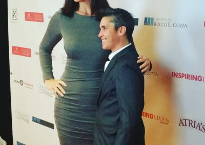 Suzanne and another Best-Selling Author, Jes Branas on the                                                      red carpet at a magazine launch.